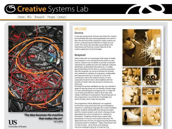 Creative System Lab Msc website